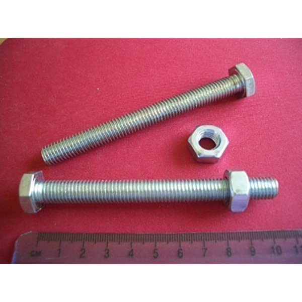 NYLOCS OR FULL NUTS WASHERS 150 PIECE PACK M10 FULLY THREADED ZINC BOLTS
