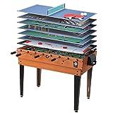 Miweba Multi Game Gioco etisch 15in 1, tavolo calcio balilla da biliardo Hockey Tavolo immagine