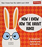 Now I know how the rabbit runs! Postkartenkalender 2020. Wochenkalendarium. Blockkalender. Format 16 x 17,5 cm