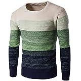 BEIXUNDIANZI Herren Tank Knit Pullover Sweatshirt Rundhals Warmer Pullover Pullover Strick Langarm Pullover Strick Z-Green 2XL