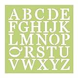 """Kaisercraft IT907 Designer Template, 12"""" x 12"""", Uppercase Alpha, Green"""