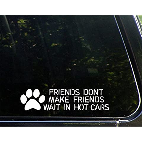 Friends non amici attendere In Hot Cars, 22,86 (9 5,08 cm x cm) (2 Die-cut decalcomania Sticker per finestre, auto, camion,