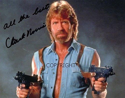 Limited Edition Chuck Norris unterzeichnet Foto Autogramm - Walker Texas Ranger-foto