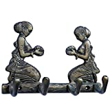 4 hook key holder with two welcome Lady ...