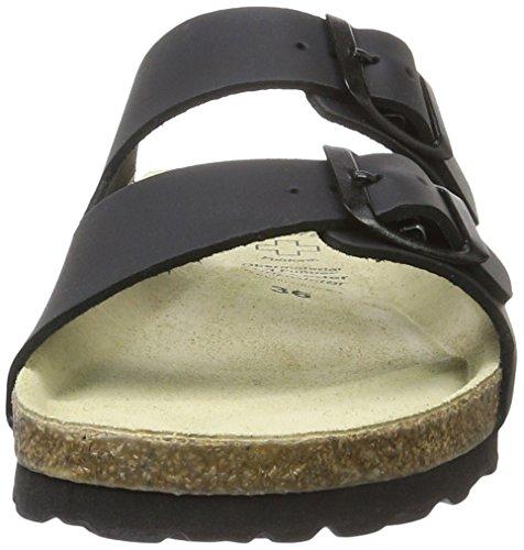 Wörishofener Fußform Bio-Pantolette, Sabot/sandali donna Marrone (Schwarz)