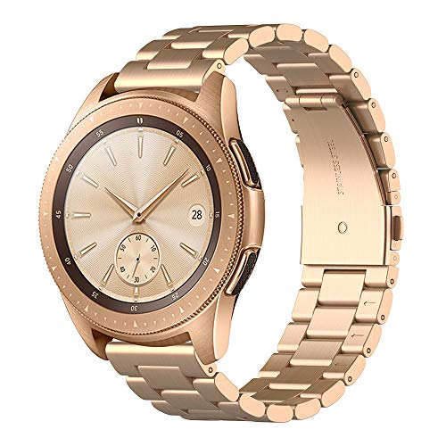 Simpeak Cinturino Compatibile per Samsung Galaxy Watch 42mm Banda in Acciaio Inossidabile con chiusura pieghevole, Cinghia di...