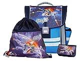 Coole Schultasche Galaxy mit Federmäppchen und Turnbeutel