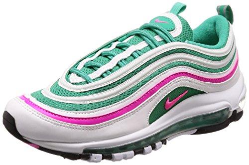Rosa Nike Sneaker (Nike Herren AIR MAX 97 Traillaufschuhe, Grün (Bianco/Rosa Blast/Kinetic Verde 102), 42.5 EU)