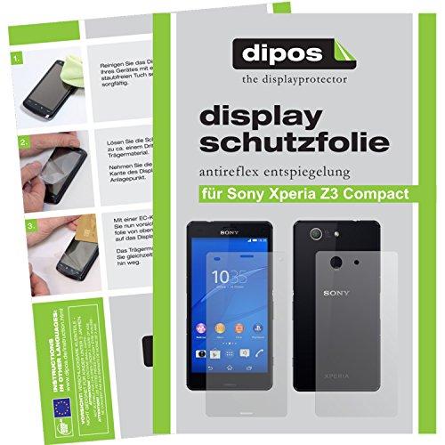dipos I 6X Schutzfolie matt kompatibel mit Sony Xperia Z3 Compact Folie Displayschutzfolie