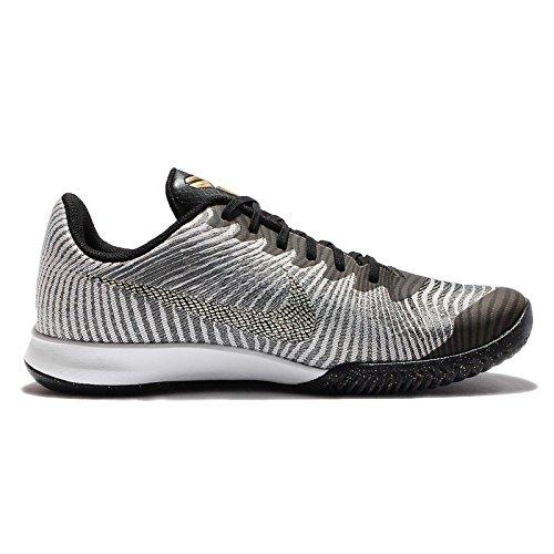 Nike Herren Kb Mentality Ii Basketballschuhe, Large Silberfarben (Pr Pltnm / Mtlc Gld Str-Anthrct)
