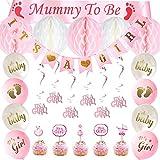 SHI WU Baby Shower, Fille décorée, Baby Shower comme Une bannière de Fille, Maman...