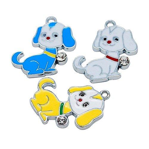 lot-de-5-pendentifs-charms-email-pour-chiot-21-x-29-mm-alliage-de-zinc-mixte-a0822
