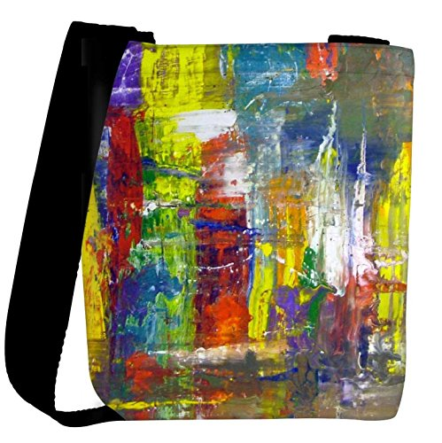 Snoogg Wall Art Abstract Painting Womens Carry Around Cross Body Tote Handbag...