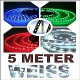 TL5000W- 5 Meter 12V flexible SMD LED Tira Xenon BLANCO luces de circulación diurna, lámpara, Luces de día navegación Light Reading, Luz del tronco,  luces de salida, Iluminación de la puerta interior para los pies, Casa Oficina Decoración