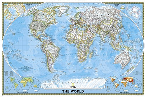 World Classic, poster size, tubed Wall Maps World (National Geographic Reference Map): Written by National Geographic Maps, 2012 Edition, (Rol Map) Publisher: National Geographic Maps Division [Map]