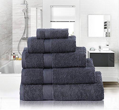 Sunrise, 600GSM, weich, die Augen, Hand- und Duschtücher, ägyptische Baumwolle, Handtücher, grau, Hand Towel (45 x 90cm) (Ägyptische Bad Blatt)