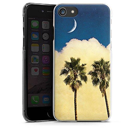 Apple iPhone X Silikon Hülle Case Schutzhülle Palmen Wolke Sichelmond Hard Case transparent