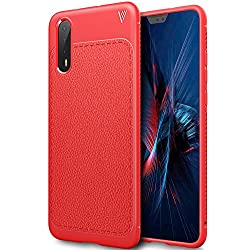 Huawei P20 Pro Hülle, Bosewek Ultra Thin Tasche Cover Tpu Silikon Handyhülle Stoßfest Case Schutzhülle Shock Absorption Backcover Hüllen Für Huawei P20 Pro Smartphone (Rot)