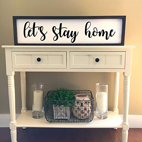 Gale66lucy Lets Stay Home Wood Sign Lets Stay Home Sign Bedroom Wall Decor Bedroom Sign Living Room Wall Decor Housewarming Gift Ideas Buy Online In Guyana At Guyana Desertcart Com Productid 105705720