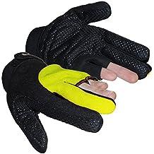 Shimano guantes para hombre guantes de ciclismo para bicicleta de montaña a prueba de agua a prueba de viento, color  - amarillo, tamaño XL