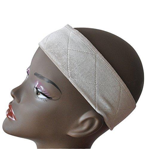 Haarnetz Haarband für Perücke Stirnband Wig Grip Verstellbar gute Elastizität Bequem und weich Perückenband rutschfest für Frau Creme ()
