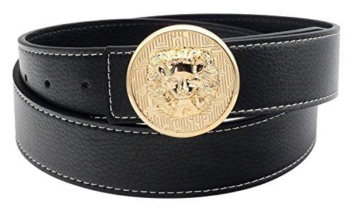 QHA Mens Lioness Reversible Leather Belt Buckle Waist Q5047