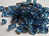 Weiva Feuerglas,Pazifik blau reflektierend (für innen und außen zugelassen) (2)