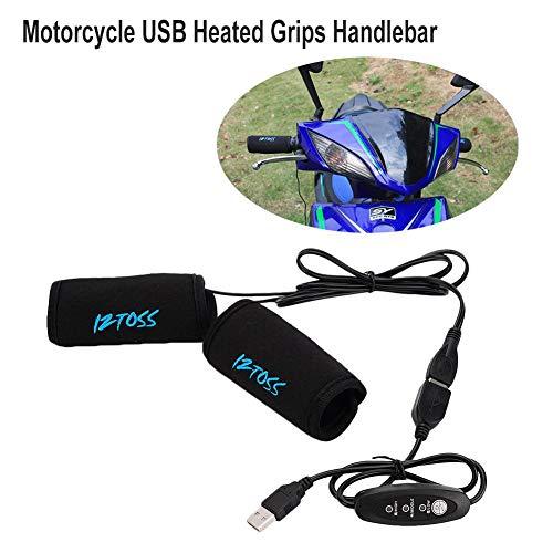 Hete-supply Motorrad ATV Roller USB Beheizte Griffe Lenker mit Temperaturschalter, Universal Motorrad Hot Grip Warmer Lenker -
