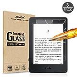 3 Stück Schutzfolie für Kindle Paperwhite Akwox 9H Härtegrad Panzerglasfolie 0.3mm Kratzfest HD Displayschutzfolie für Amazon Kindle Paperwhite 1 / 2 / 3