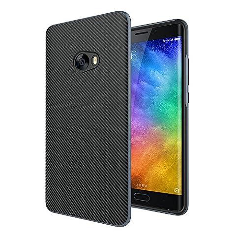 XiaoMi Mi Note 2 Coque, Mi Note 2 Housse , 95STREET Prime Hybride Anti-scratch Carcasse Bumper Double Couche Etui en fibre de carbone pour XiaoMi Mi Note 2 (5,7 pouces) -étui in noir