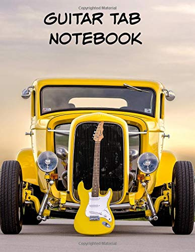 Guitar Tab Notebook: Large Sheet Music Paper for Writing Guitar Melodies,Chords and Songs