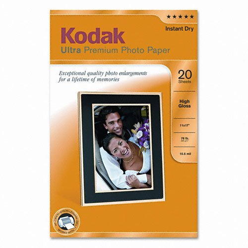 Ultra premium photo paper, 10 mil, high-gloss, 11 x 17, 20 sheets/pack by kodak