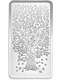 Rajasthan Silver Works™ BIS Hallmarked Precious Banyan Tree 100 grams 999 Silver bar.