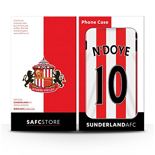 Offiziell Sunderland AFC Hülle / Case für Apple iPhone 4/4S / Larsson Muster / SAFC Trikot Home 15/16 Kollektion N'Doye