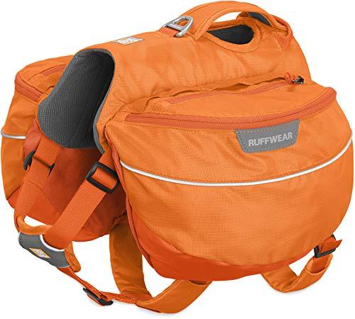 Ruffwear Wander-Rucksack für Hunde, Große bis sehr große Hunderassen, Größenverstellbar, Größe: L/XL, Orange (Orange Poppy), Approach Pack, 50102-801LL1