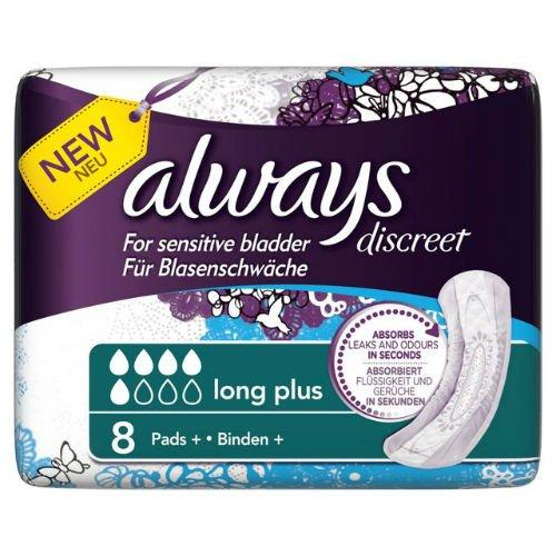 always-discreet-sensitive-bladder-long-plus-pad-8-per-pack-case-of-5