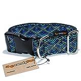 CandyPet Baumwolle Halsband für Hunde Triangle Click 4cm (30-55cm)