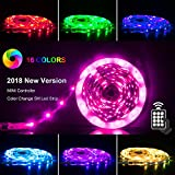 LED Strip Lights 5m, RGB 5050 LEDs Color Changeing Kit with 24key Remote