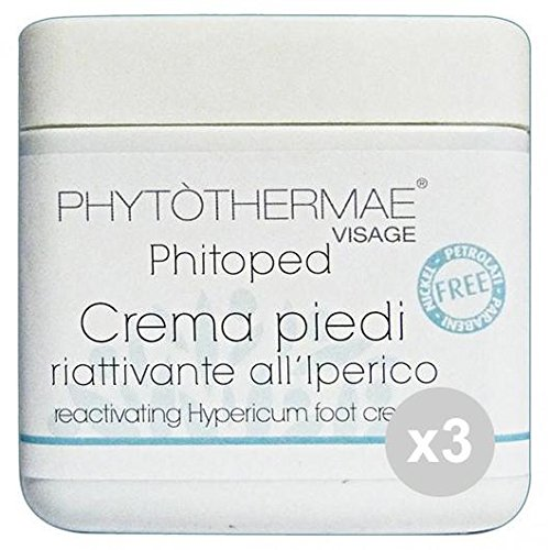 phytothermae Crème Pieds riattivante Soin Corps – Pack De 3 x 500 g
