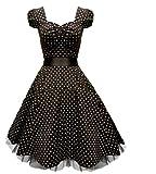 50s Jahre Retro vintage Rockabilly kleid Partykleider Cocktailkleider Abendkleider Petticoat polka Dot Kleider
