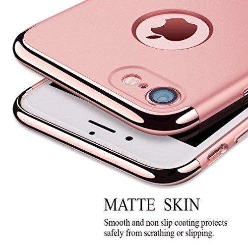 Coque iPhone 7,Coque iPhone 7 Plus,Coque iPhone 6/6S,Coque iPhone 6 Plus, Coque iPhone 6S Plus,Manyip 3 in 1Trois segments de type combiné Coque ,électrodéposition de couleur,Mince case cover(QT-01) D