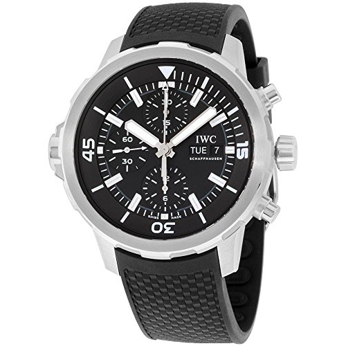 IWC MEN'S AQUATIMER 44MM BLACK RUBBER BAND STEEL CASE AUTOMATIC WATCH IW376803
