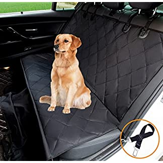 hantajanss Luxury Dog Seat Cover,Nonslip Waterproof Easy Cleaning Car Large Back Seat Pet Covers Hammock for Cars… 25