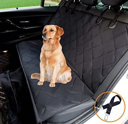 hantajanss Luxury Dog Seat Cover,Nonslip Waterproof Easy Cleaning Car Large Back Seat Pet Covers Hammock for Cars… 1