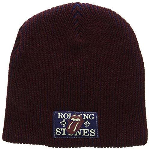Rolling Stones - Rib W/Patch Knit Beanie (Knit Rib Beanie)