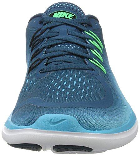 Nike Flex 2017 Rn, Scarpe da Corsa Uomo Multicolore (Legion Blue/Black/Chlorine Blue)