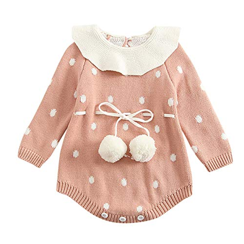 58b5aaf10 ... Bebé ReciéN Nacido NiñO Chico NiñA Dot Punto Mameluco Body Ropa Crochet  Trajes (18-24 Meses