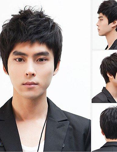 Mode Perücken WIGSTYLE Nicht-Mainstream-Männer Perücke Haarperücken, Japan und Südkorea stattlichen Jungen zottigen Kopf Hersteller verkaufen Großhandel,black
