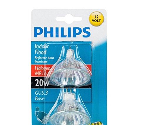 Philips 415687Innen Flood 20Watt MR1612Leuchtmittel, 2er Pack... - Mr16 20w Flood