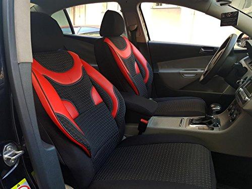 Sitzbezüge k-maniac | Universal schwarz-rot | Autositzbezüge Set Vordersitze | Autozubehör Innenraum | Auto Zubehör für Frauen und Männer | V134430 | Kfz Tuning | Sitzbezug | Sitzschoner
